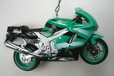 Green Kawasaki ZX-9R Ninja Motorcycle Christmas Ornament