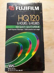 Fujifilm Fuji HQ120 VHS. 6 Hours Video Blank Tape. Sealed and New