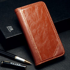 For Samsung Galaxy S6 Edge Plus Genuine Real Leather Flip Wallet Case Cover