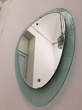 glass mirror  design 60 70 specchio Fontana Arte cristal art Veca Mid century
