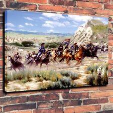 """Seventh Cavalry Regiment The Battle,Decor Art Canvas Print Oil Painting ,16""""x20"""""""