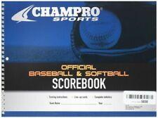 Champro Baseball Score Book White 52 Pages