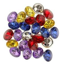 25pcs Crystal Sofa Buttons Decor Headboard Upholstery Sewing Craft 25mm