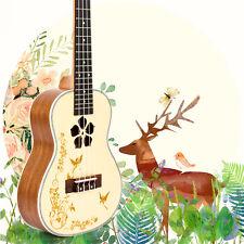Ukulele Concert 23 inch Uke Hawaii Guitar Solid Spruce Mahogany Professional