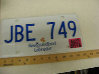 2015 15 NEWFOUNDLAND LABRADOR CANADA LICENSE PLATE #JBE 749 NATURAL STICKER