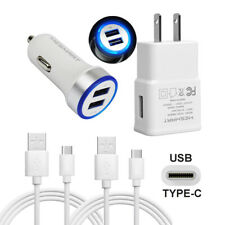 Cell Phone Wall Car Charger For LG Stylo 4 5 V40 V35 G8 G7 ThinQ V30 USB C Cable