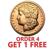 1 Ounce .999 Fine Copper Round - Morgan Dollar