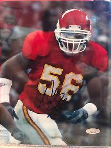 Derrick Johnson Signed Kansas City Chiefs 8x10 Photo Tristar