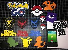 Pokemon GO Diecut Scrapbook Kit!  Project Life Paper 17 Diecuts!! Like stickers