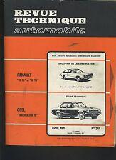 (44A)REVUE TECHNIQUE AUTOMOBILE OPEL REKORD 2100 D / RENAULT 15