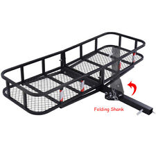 "GOPLUS Folding Cargo Carrier Luggage Rack  Hauler Truck or Car Hitch 2"" Receiver"