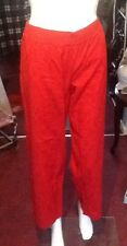 Deep Red Slightly Mottled Patterned Leisure Pants From La Sensa Medium Size.