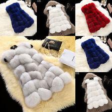 Warm vest artificial female fox fur waistcoat jacket for sale