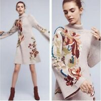 Anthropologie Knitted &Knotted petals bellsleeve swing dress XS