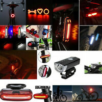 Rechargeable Bicycle Bike LED Taillight Cycling Safety Warning Rear Lamp 4 Modes