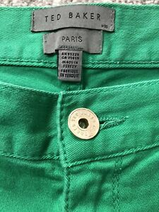 """TED BAKER Ladies  Green Jeans W30"""" I/L 29"""""""