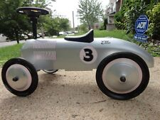 """Morgan Cycle """"Silver Racer"""" Vintage Retro Pink Foot to Floor Ride-On Push Toy"""