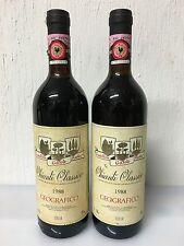 Lotto 2 Bottiglie Chianti Classico Geografico 1988 Castellina Gaiole Radda
