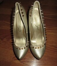 "WOMEN'S PRIVLEGED  GOLD STUDDED 6""  HIGH HEELS SIZE 6*"