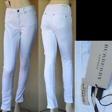 BURBERRY LONDON New sz 28 Designer Authentic Ankle Zip Womens White Pants Jeans
