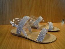 c3cc74c563a1 Diamante Sandals Size 4 Ladies Wallis Silver Flat Ankle Strap Slingback Shoe  NEW