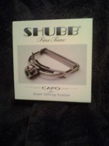 Shubb Capo F1 Finetune Fine Tune for Steel string guitars new in box