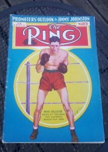 The Ring Boxing Magazine: March 1937.  Mike Belloise.