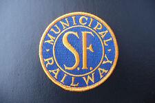 "3"" PATCH SAN FRANCISCO MUNICIPAL RAILWAY BLUE & GOLD O'SHAUGHNESSY MUNI EMBLEM"