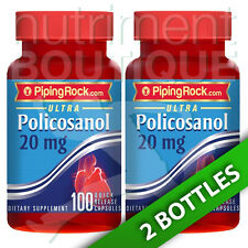 Ultra Policosanol 20 mg 2X100 Caps - Piping Rock