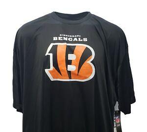 Cincinnati Bengals Men's NFL Majestic Black Poly Logo T-Shirt Big & Tall 6XL