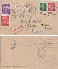 G.B. 1955 Cover Balham undrpaid to Kopje and Yugoslavian post dues applied