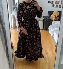 Sister Jane Black And Pink Star Maxi Ruffle Dress Small