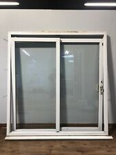 UPVC SLIDING DOUBLE GLAZED DOORS-EXTERNAL-PATIO-WHITE-EXTERIOR-PVCU-PLASTIC-USED