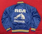 Spectacular Vintage RCA Records Nipper the Dog Satin Size S Jacket Music Victor
