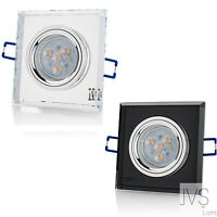 1-100 Set Cristal 230v GU10 6w REGULABLE LUZ EMPOTRABLE LED Foco de techo Spot