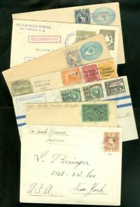 EDW1949SELL : GUATEMALA Very interesting collection of 6 covers & 1 wrapper.
