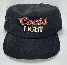 Vintage Coors Light Hat- Black, Beer Memorabilia, Brewery Advertising- Coors Hat