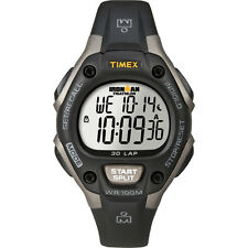 Timex Ironman Triathlon 30 Lap Mid Size Watch Grey/Black with Indigo/Alarm/Timer