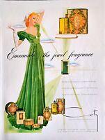 1941 Vintage Art Print Ad Emeraude The Jewel Fragrance By Cody Glowing Perfume