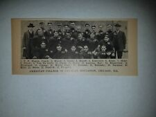 American College of Physical Education Chicago IL 1925 Football Team Picture