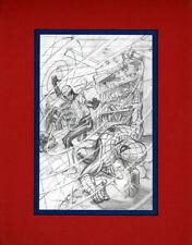 AMAZING SPIDER-MAN v VERTIGO SKETCH PRINT PROFESSIONALLY MATTED Alex Ross Art