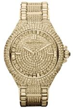 NEW MICHAEL KORS MK5720 LADIES GOLD CAMILLE GLITZ WATCH - 2 YEARS WARRANTY