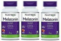 Natrol MELATONIN 3mg Fast Dissolve Sleep Aid 270 tablets STRAWBERRY