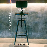 INDUSTRIAL RETRO RUSTIC METAL SWIVEL BAR STOOL CAFE BISTRO KITCHEN COUNTER CHAIR