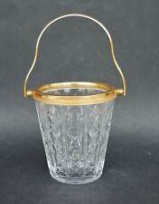 VAL ST LAMBERT CRYSTAL ICE BUCKET - Eiskübel Eis Glas Belgien signiert - 1930