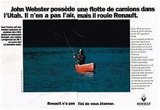 Publicité Advertising 1994 (2 pages) Les camions Renault John Webster