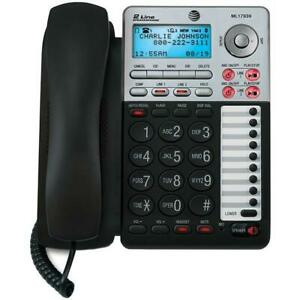 AT&T 17939 2 Line Corded Speakerphone w/Caller ID and Digital Answering Machine