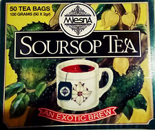 Mlesna Pure Ceylon Soursop Black Tea 50 Tea Bags (100g)  Box.