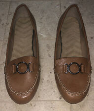 Brown Loafer Slip On Low  Heal  size 11 Man Made Woman's