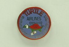 Pin Hubschrauber Helicopter Turtle Airlines crystal genève